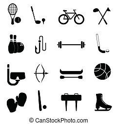 uitrusting, vrije tijd, sporten