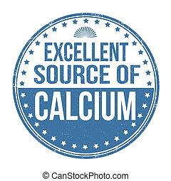 uitstekende bron van calcium, postzegel