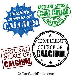 uitstekende bron van calcium, postzegels