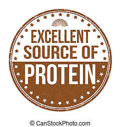 uitstekende bron van eiwit, postzegel