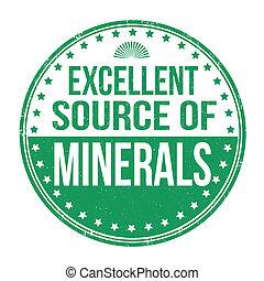uitstekende bron van mineralen, postzegel