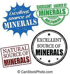 uitstekende bron van mineralen, postzegels
