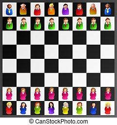 uitvoerend, schaakspel