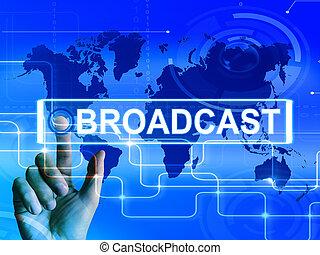 uitzenden, kaart, vertoningen, internationaal,...