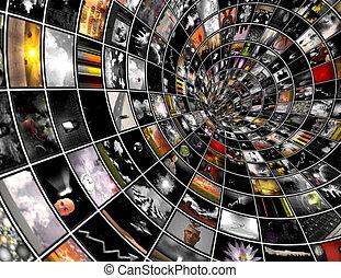 uitzenden, tunnel
