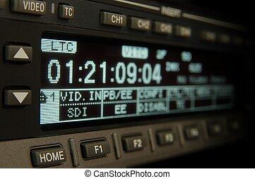 uitzenden, videorecorder, display