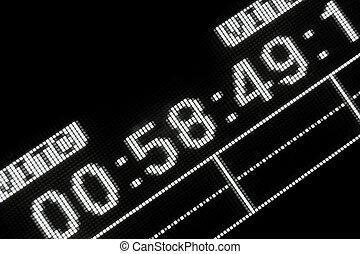 uitzenden, videorecorder, macro, shot-display