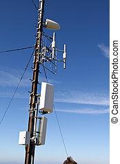 uitzending, faciliteit, voor, communicatie