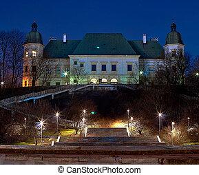Ujazdowski Castle in March, Warsaw, Poland