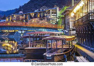 Uji, Kyoto Prefecture, Japan on the Ujigawa River.
