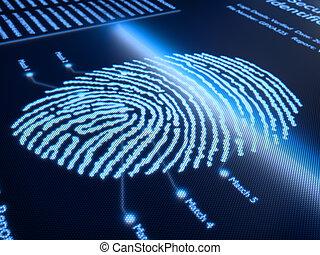 ujjlenyomat, képben látható, pixellated, ellenző