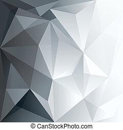 układ, wielobok, abstrakcyjna forma, projektować, tło, modny