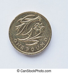 Currency of the United Kingdom 1 Pound coin