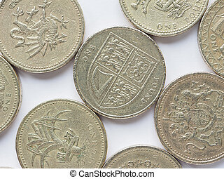 UK 1 Pound coin - Currency of the United Kingdom 1 Pound ...