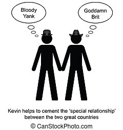 UK and USA Special Relationship - Kevin helps to cement the...
