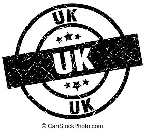uk black round grunge stamp