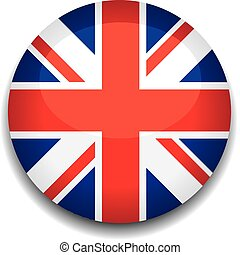 uk button flag - uk flag in a button