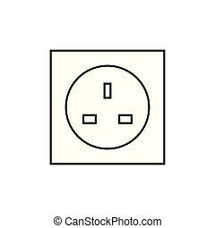 UK electric pocket icon