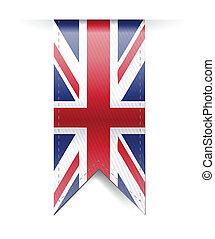 uk flag banner illustration design over a white background