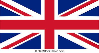 UK flag - Flag of the UK aka Union Jack - isolated vector...