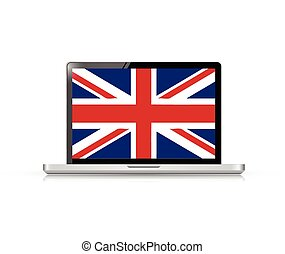 uk flag computer laptop