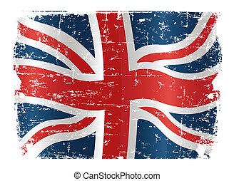 UK flag design - Illustration of UK flag with a texture