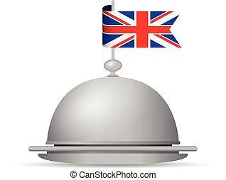 uk flag dinner platter