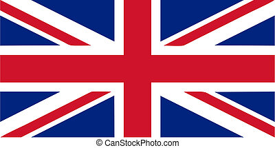 UK flag - Flag of the UK aka Union Jack - isolated vector...