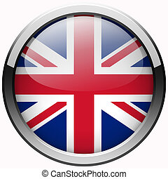 uk flag gel metal button