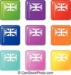 UK flag icons 9 set