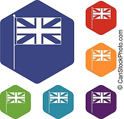 UK flag icons set
