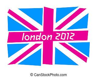 UK flag London 2012 - United Kingdom flag the Union Jack...