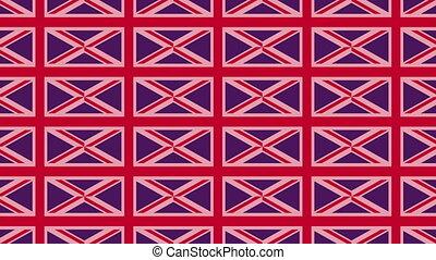 UK flag on infinite zoom