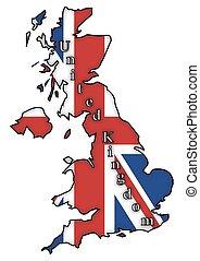 UK Flag On Map