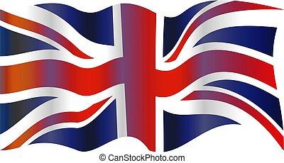 UK flag - Union Jack flag of the United Kingdom