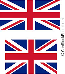 UK flag - Union Jack - flag of the UK with official...