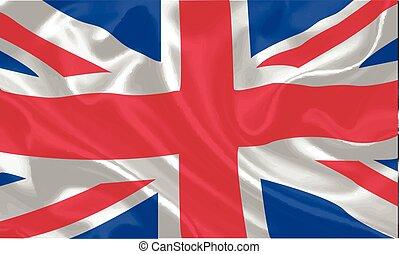 UK Flag waving vector