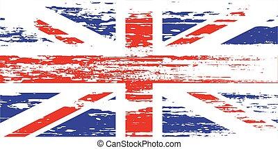 UK flag with grunge on a white background. Vector illustration