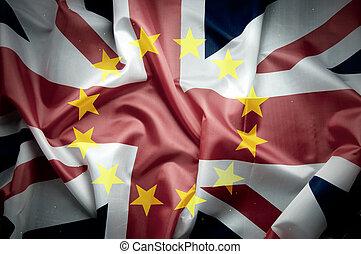 uk, flagga, brexit, begrepp