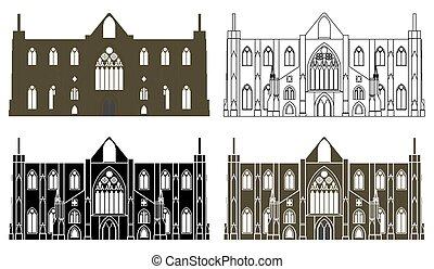 uk., galles, abbaye, tintern