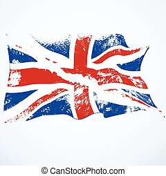 UK grunge flying flag.