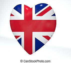 UK Heart Flag
