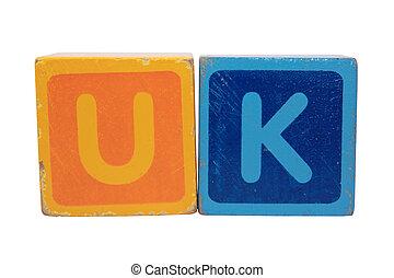 uk in toy letter blocks