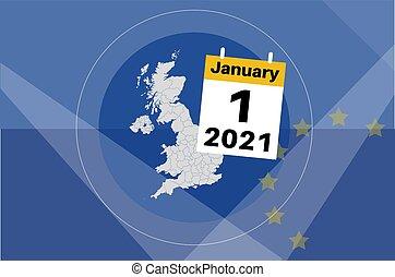 UK January 1st 2021 UK Breaks Free from the EU