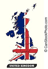 UK Map and UK Flag - Map Of United Kingdom and Flag of ...