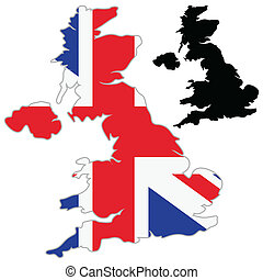 UK map flag