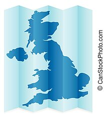 UK map on a white background. Vector illustration.