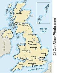 UK map vector