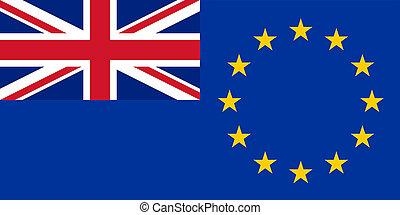 uk, och, europa, flagga