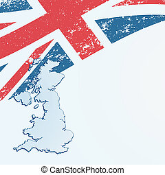 UK or British flag or map.